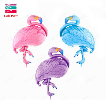 Large bird balloons Flamingo foil balloons children classic toys Inflatable helium balloon birthday wedding balls party supplies