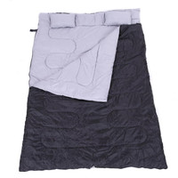 """Huge Double Sleeping Bag 23F/-5C 2 Person Camping Hiking 86""""x60"""" W/2 Pillows New"""