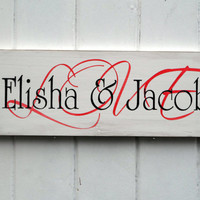 Personalized Love Sign Suitable For Weddings And Anniversaries