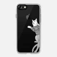 Hipster cat trying to catch Apple iPhone 7 Case by Barruf | Casetify