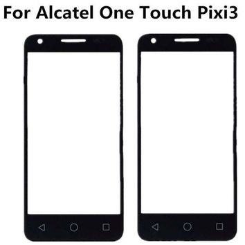 ICIK272 Black For Alcatel One Touch Pixi 3 4.5 4027D 4027X 4027 A5017 5017E VF795 Front Outer Glass Lens Repair Touch Screen Outer Glass