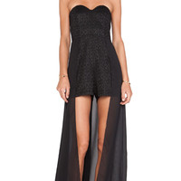 Lumier Twisted Times Playsuit in Black