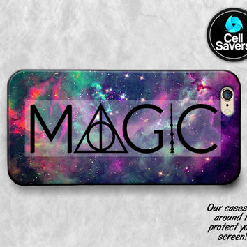 Magic iPhone 6s Case iPhone 6 Case iPhone 6 Plus Case iPhone 6s Plus iPhone 5c Case iPhone 5 Case Harry Potter Deathly Hallows Galaxy Space