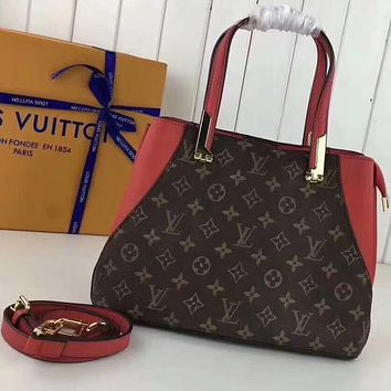 Perfect Louis Vuitton Women Fashion Leather Satchel Shoulder Bag Handbag Crossbody