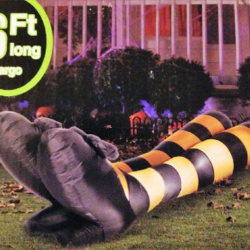HALLOWEEN INFLATABLE 6' WITCH LEGS AIRBLOWN DECORATION BY GEMMY