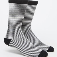 On The Byas Heathered Stripe Sock - Mens Socks - Grey - One