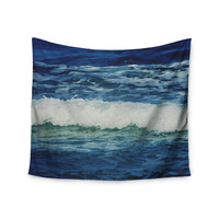 "Chelsea Victoria ""Sink Back Into"" Coastal Blue Wall Tapestry"