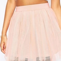 Boohoo Tulle Mini Skirt