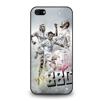TRIO BBC REAL MADRID iPhone 5 / 5S / SE Case Cover