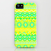 India Style Pattern (Neon) iPhone Case by Maximilian San | Society6