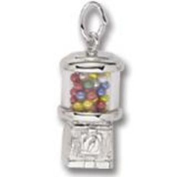 Gumball Machine Charm In Sterling Silver