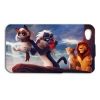 Lion King Funny Grumpy Cat Cute Disney Custom Case Cover iPhone 4 iPhone 4s iPhone 5 iPhone 5s