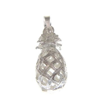 925 STERLING SILVER MEDIUM HAWAIIAN PINEAPPLE CHARM PENDANT