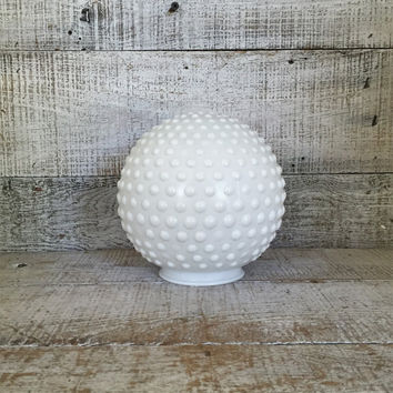 Ceiling Light Shade Milk Glass Lamp Globe Hobnail Ceiling Globe Art Nouveau Ceiling Light Fixture Antique Light Fixture Mid Century Lighting