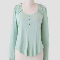 Finding Seaglass Embroidered Blouse