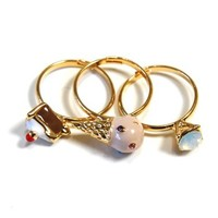 Ice Cream Cake Stacking Rings - $10.49 : Spotted Moth, Chic and sweet clothing and accessories for women