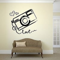 Wall Vinyl Sticker Photo Photography Room Art Kids Teen Room Love Girl (ig2046)