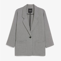 Houndstooth blazer - Houndstooth - Coats & Jackets - Monki GB