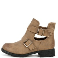 Annabel-1 Cut Out Ankle Boots   MakeMeChic.com