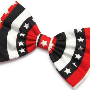 American Flag Team USA Hair Bow Clip Handmade By Sweet in the City