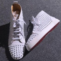 PEAP Cl Christian Louboutin Louis Spikes Style #1889 Sneakers Fashion Shoes