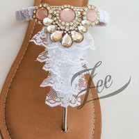 Elegant Shoes by Zee Sandals, Summer Sandals with Sparkling Jewels for Destination Beach Wedding (Style: LIEFDE)