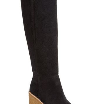 COACH 'Keely' Genuine Shearling Lined Wedge Boot (Women) | Nordstrom