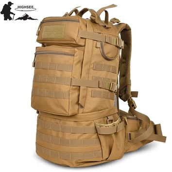 HIGHSEE Outdoor Backpack 50l Camping Hiking Backpack Tactical Bag Man Tactical Military Bag Camouflage Backpack Man Trekking
