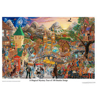 The Beatles - Magical Mystery Tour 100 Songs Poster on Sale for $9.99 at HippieShop.com