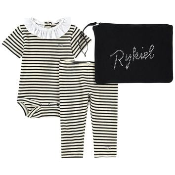 Sonia Rykiel Baby Girls Romper and Pants Two-Piece Gift Set