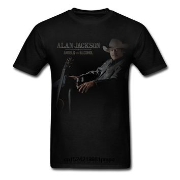 Funny Men t shirt white t-shirt tshirts Black tee Men's Alan Jackson Singer Country Music black T Shirt