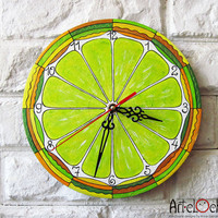 The Lemon Citrus Wall Clock