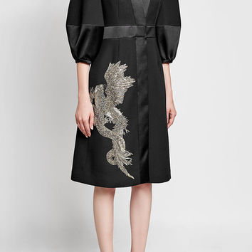 Embellished Coat with Wool and Silk - Alexander McQueen | WOMEN | US STYLEBOP.COM