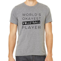 World's Okayest Volleyball Player Shirt Mens Crew neck t-shirt by ORViN