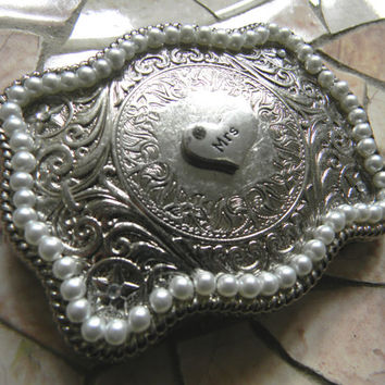 Mrs Silver Belt Buckle, Future Mrs, Bridal Shower Gift, Fiance Gift, Western Wedding Gift, Country Wedding Gift, Custom Womens Belt Buckle
