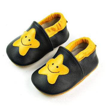 Leather Handcrafts Environmental Baby Pattern Shoes [4919348996]