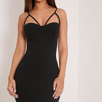 Strappy Slim Bodycon Dress 11183