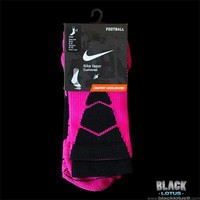 NEW RARE Nike Vapor Football Socks Pink Breast Cancer Awareness Platinum Elite M