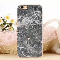 Fracture Marble Stone Protect iPhone 5s 6 6s Plus Case + Gift Box-131