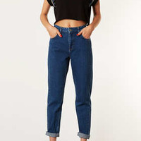 MOTO BLUE MOM JEANS