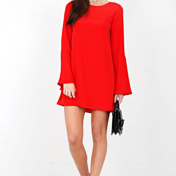 LIKELY | Perry Dress - Scarlet