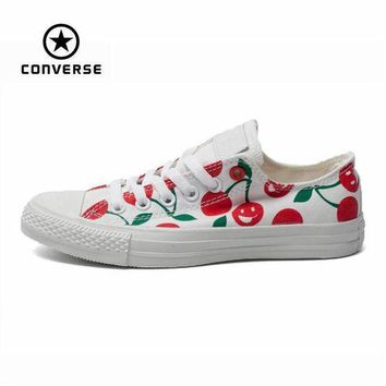 ESBONB Original Converse all star shoes low women sneakers Hand-painted graffiti white canvas