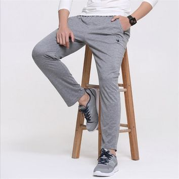 Summer Men's Casual pants Fashion boy trousers 2017 Spring male casual straight health cheap pants Mens sweatpants plus size 6XL