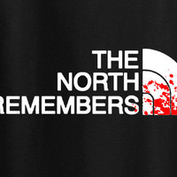 Game of Thrones North Face parody The North remembers tee t-shirt