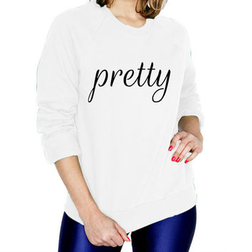 Pretty Fashion Sweatshirt - T-shirt - Womens Raglan fashion tee - cute womens top - fashion top - style tee