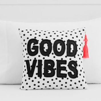 The Emily & Meritt Good Vibes Pillow Cover