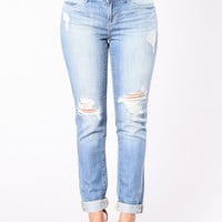 Boyfriend Material Jeans - Medium Blue
