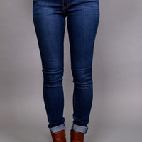Fun Dark Indigo Skinnies By Angry Rabbit