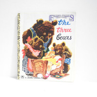 Vintage The Three Bears Little Golden Book by TheRetroStudio