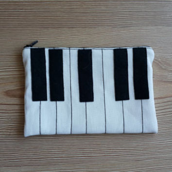 Piano  Shaped Zip Purse, Makeup Bag, Coin Purse, Small Accessory Pouch, Handmade Electronic Device , FREE SHİPPİNG